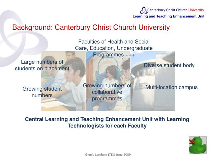 Background: Canterbury Christ Church University