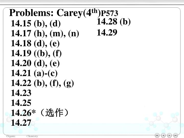 Problems: Carey(4