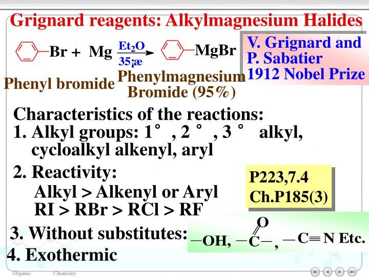 Grignard reagents: Alkylmagnesium Halides