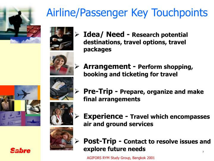 Airline/Passenger Key Touchpoints