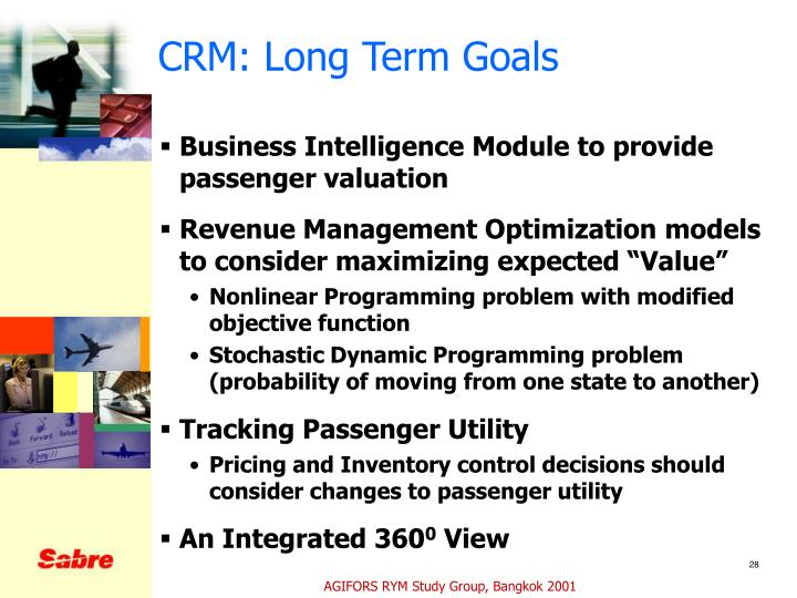 CRM: Long Term Goals