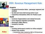 crm revenue management role