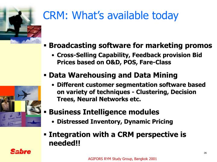 CRM: What's available today