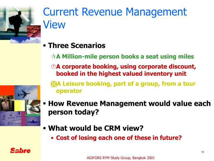 Current Revenue Management View