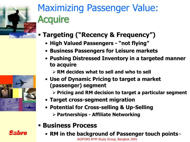 Maximizing Passenger Value: