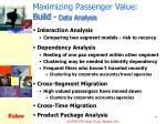 maximizing passenger value build data analysis