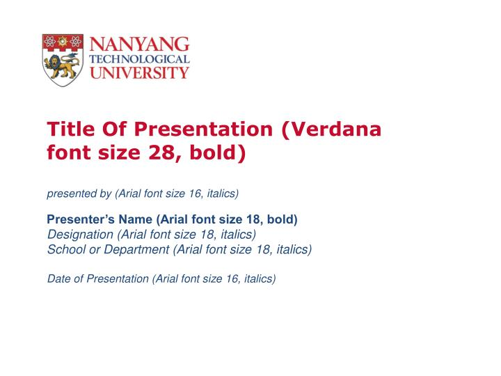 thesis presentation template