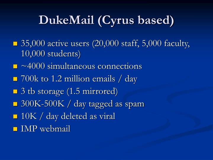 DukeMail (Cyrus based)