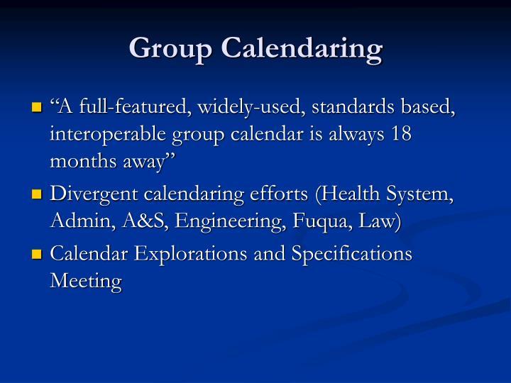 Group Calendaring