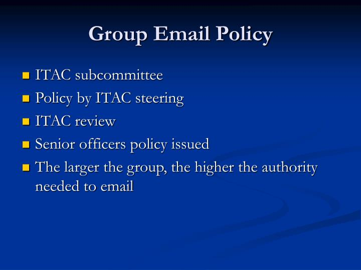 Group Email Policy