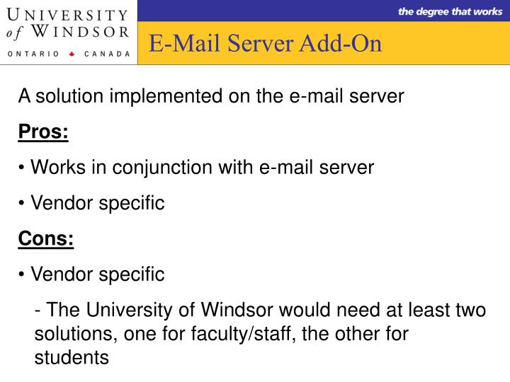E-Mail Server Add-On