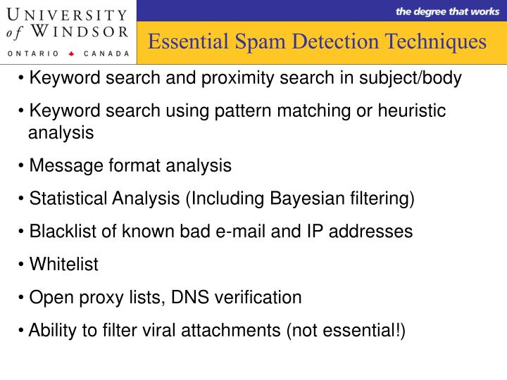 Essential Spam Detection Techniques