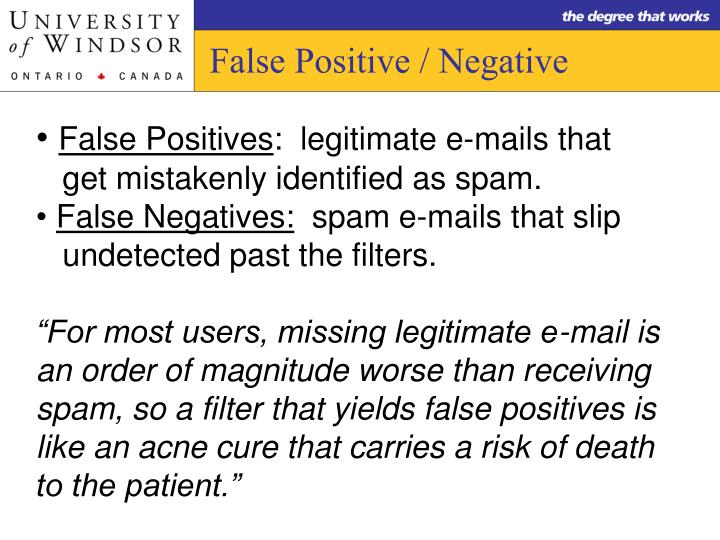 False Positive / Negative