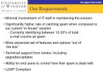 our requirements
