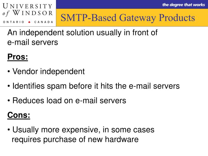 SMTP-Based Gateway Products