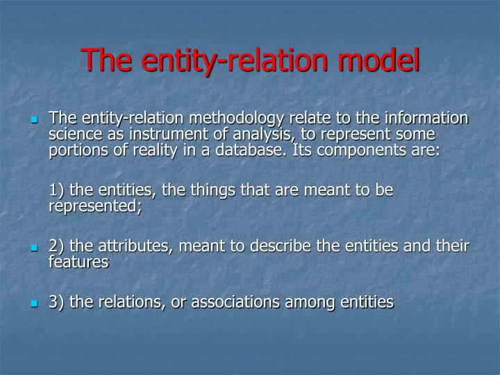 The entity-relation model