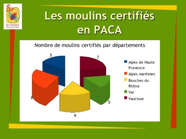 Les moulins certifiés
