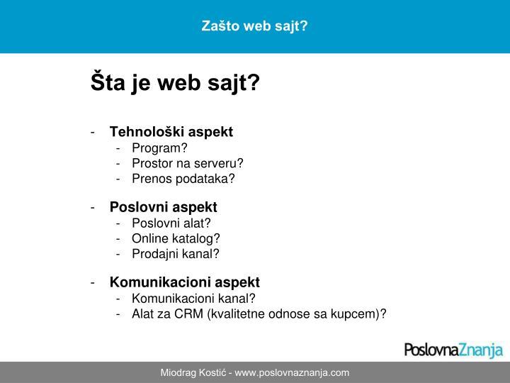 Šta je web sajt?