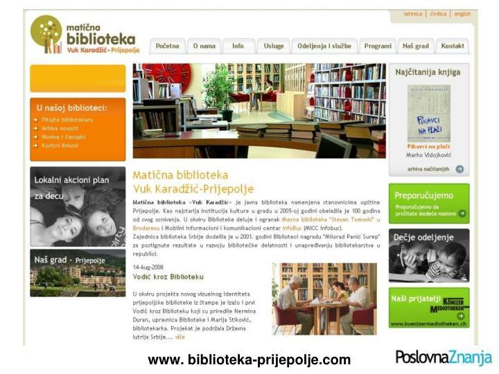 www. biblioteka-prijepolje.com