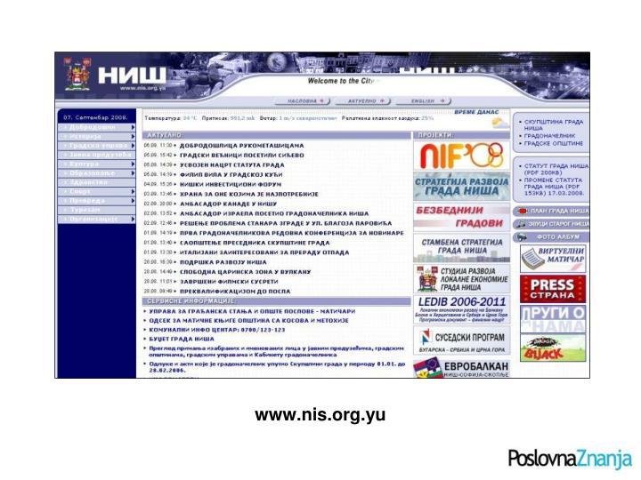 www.nis.org.yu
