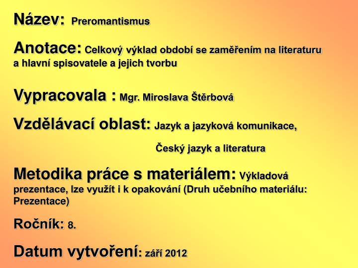 Nzev: