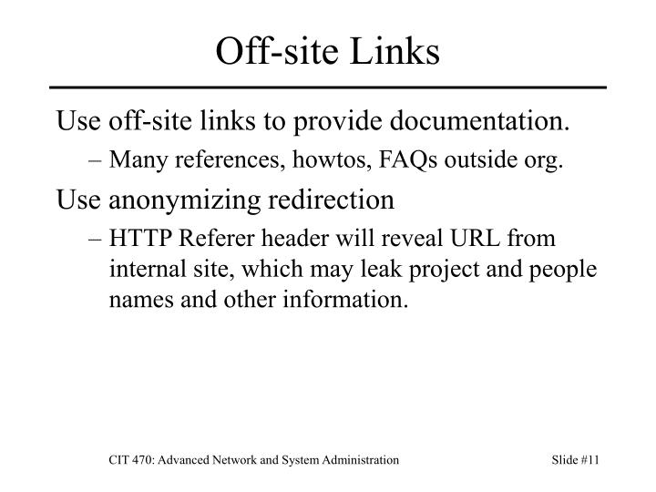 Off-site Links