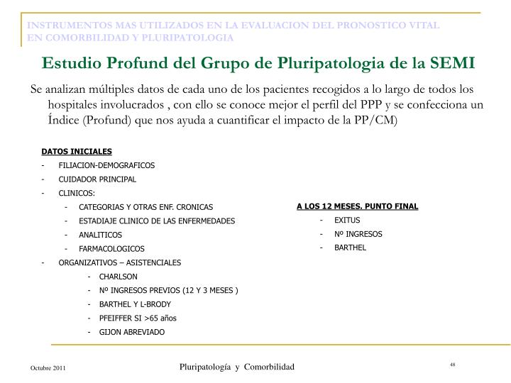 Pluripatología  y  Comorbilidad