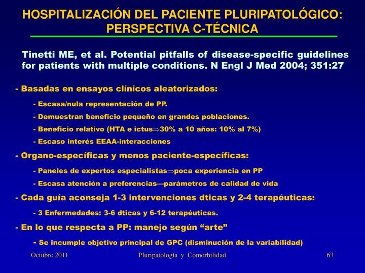 HOSPITALIZACIÓN DEL PACIENTE PLURIPATOLÓGICO: