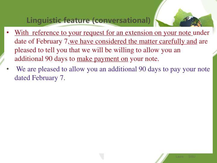 Linguistic feature (conversational)