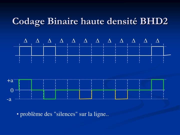 Codage Binaire haute densité BHD2