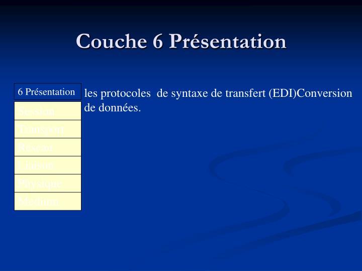 Couche 6 Présentation