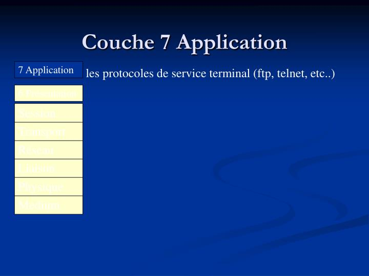 Couche 7 Application