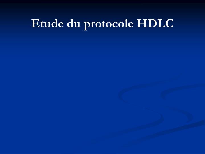 Etude du protocole HDLC