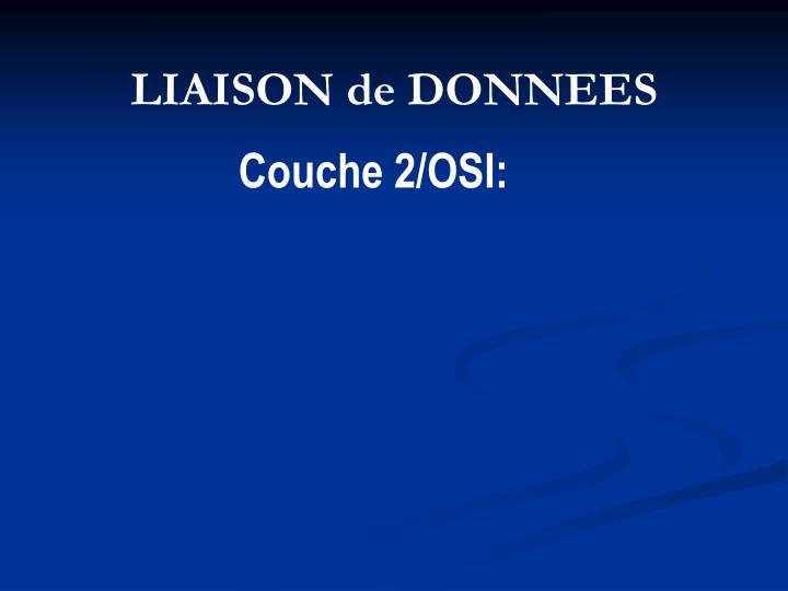 LIAISON de DONNEES