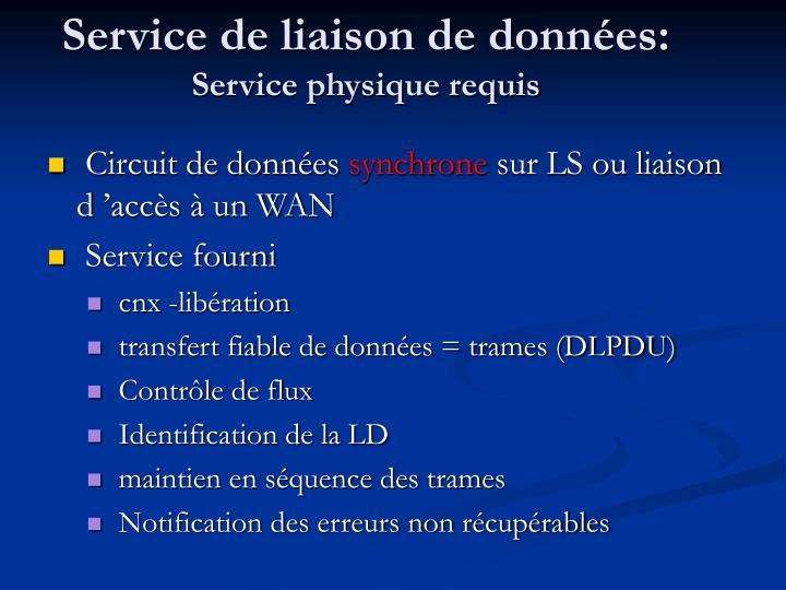 Service de liaison de données: