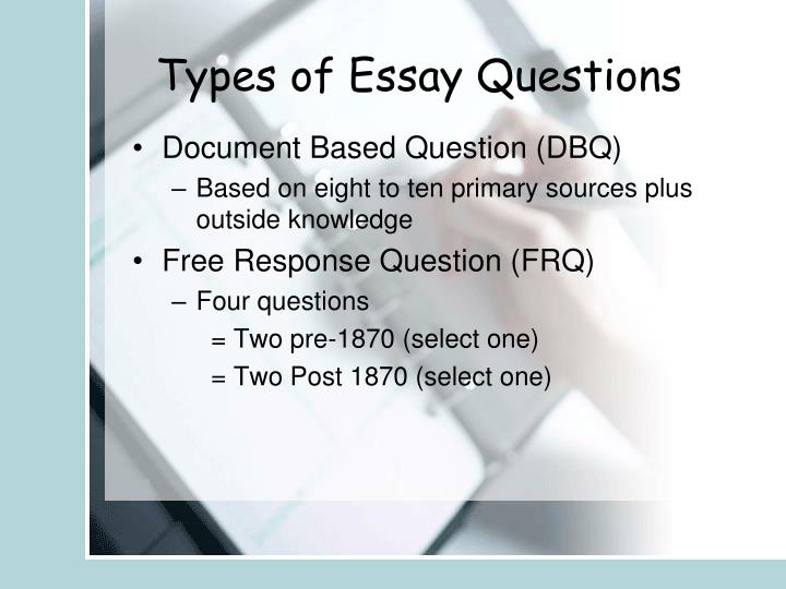 Types of Essay Questions