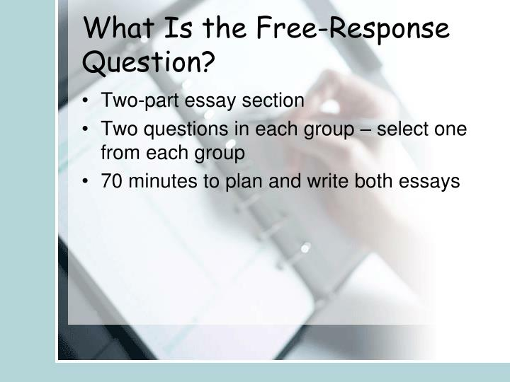 What Is the Free-Response Question?