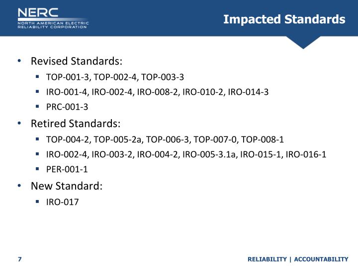 Impacted Standards