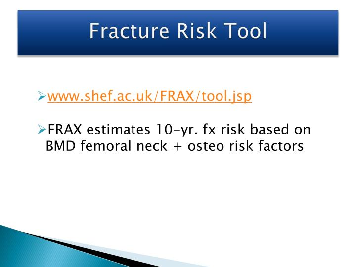 Fracture Risk Tool