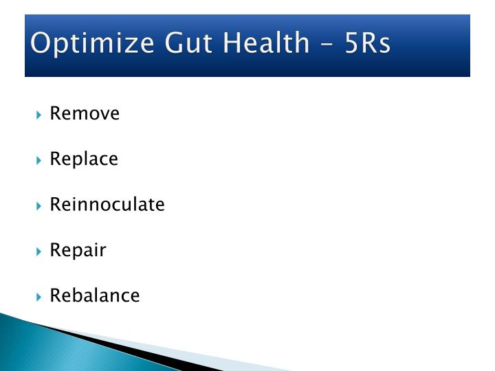 Optimize Gut Health – 5Rs