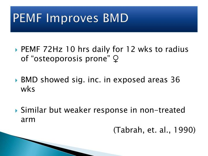 PEMF Improves BMD