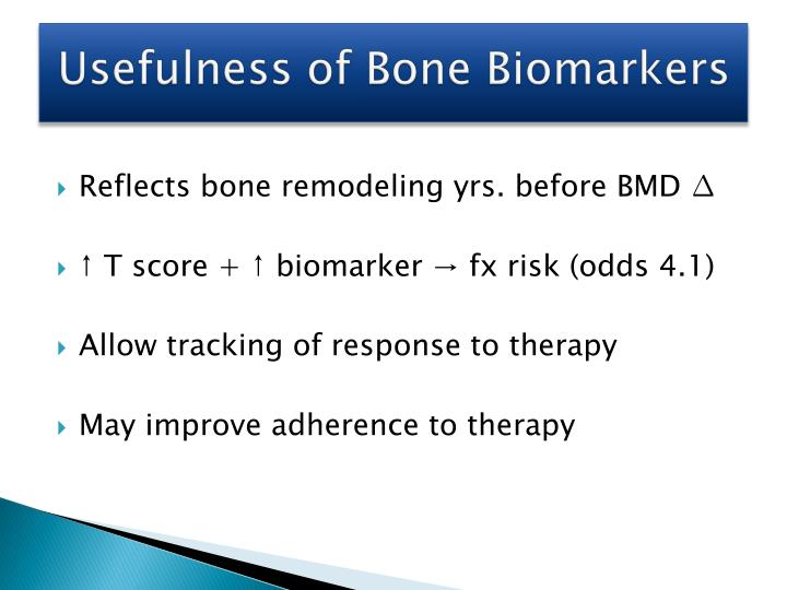 Usefulness of Bone Biomarkers