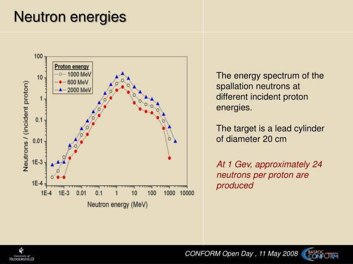Neutron energies