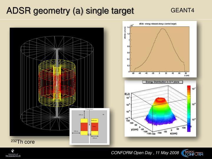 ADSR geometry (a) single target