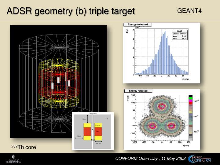 ADSR geometry (b) triple target