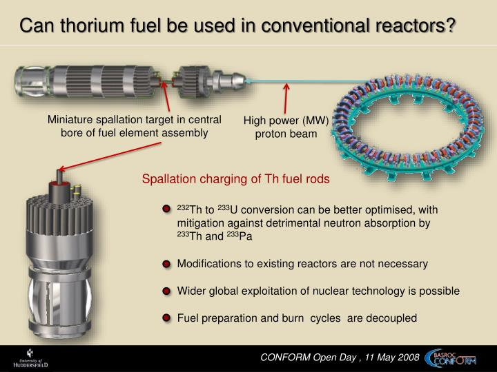 Can thorium fuel be used in conventional reactors?