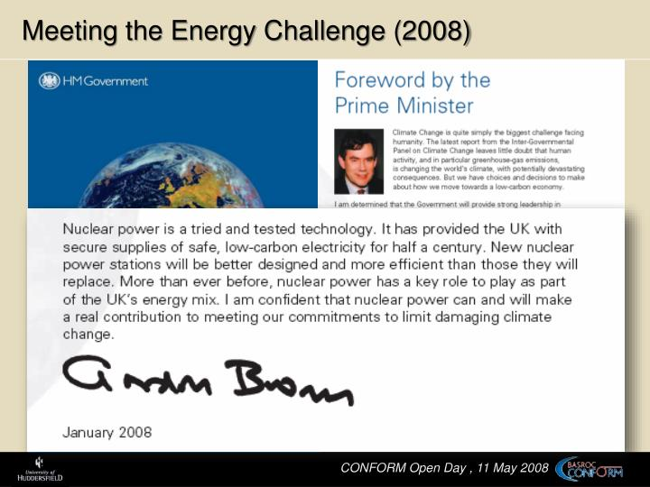 Meeting the Energy Challenge (2008)