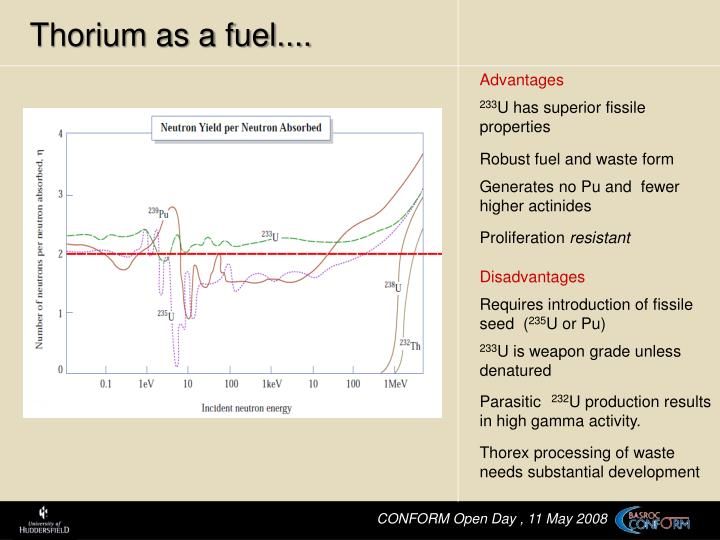 Thorium as a fuel....