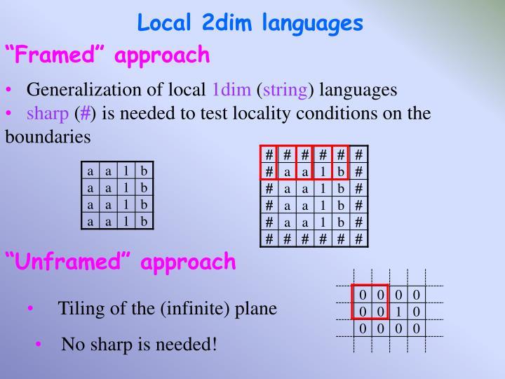Local 2dim languages