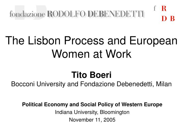 The lisbon process and european women at work